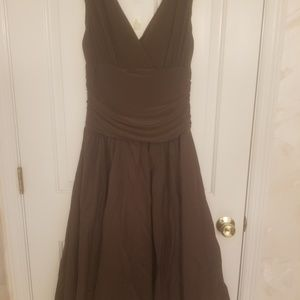Chocolate Brown dress.